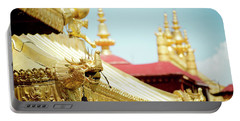 Portable Battery Charger featuring the photograph Lhasa Jokhang Temple Fragment Tibet by Raimond Klavins