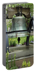 Portable Battery Charger featuring the photograph Liberty Bell Replica by Mike Eingle