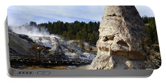 Liberty Cap At Mammoth Hot Springs Portable Battery Charger
