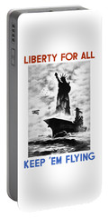 Liberty For All -- Keep 'em Flying  Portable Battery Charger