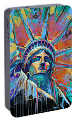 Liberty In Color Portable Battery Charger by Damon Gray