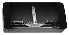 Liberty Memorial In Kansas City Bw Portable Battery Charger