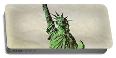 Liberty, Pop Art By Mb Portable Battery Charger