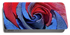 Portable Battery Charger featuring the photograph Liberty Rose by Judy Vincent