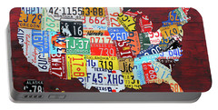 License Plate Map Of The United States Custom Edition 2017 Portable Battery Charger