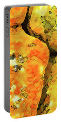 Lichen Abstract Portable Battery Charger