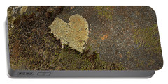 Portable Battery Charger featuring the photograph Lichen Love by Mike Eingle