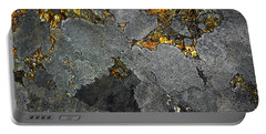 Lichen On Granite Rock Abstract Portable Battery Charger