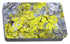 Portable Battery Charger featuring the photograph Lichen Pattern by Christina Rollo