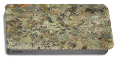 Lichens On Boulder Portable Battery Charger by Jayne Wilson