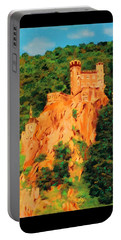Portable Battery Charger featuring the painting Lichtenstein Castle by Deborah Boyd