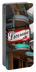 Licorama Bar Liquor Store In Havana Cuba At Calle 6 Portable Battery Charger by Charles Harden