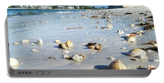 Portable Battery Charger featuring the photograph Lido Beach Sea Shells 1 by Lou Ann Bagnall