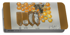 Life Cycle Of A Bee  Portable Battery Charger by Francine Heykoop