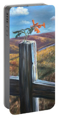 Portable Battery Charger featuring the painting Triumphant by Randol Burns