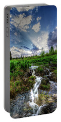 Portable Battery Charger featuring the photograph Life Giving Stream by Bryan Carter