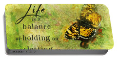 Life Is A Balance Portable Battery Charger