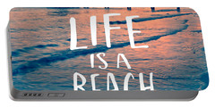 Life Is A Beach Tee Portable Battery Charger