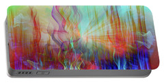 Portable Battery Charger featuring the digital art Life Is A Beautiful Mystery by Linda Sannuti