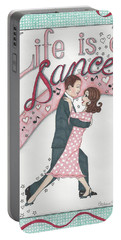 Life Is A Dance Portable Battery Charger