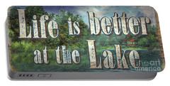 Life Is Better Sign Portable Battery Charger