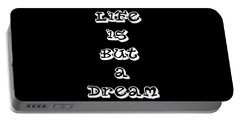 Life Is But A Dream Art Print Poster Portable Battery Charger