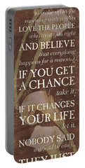 Life Is.... Portable Battery Charger by Debbie DeWitt
