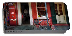 Portable Battery Charger featuring the photograph Life Is Good Bicycle by Craig J Satterlee