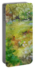Portable Battery Charger featuring the painting Life Lessons by Judith Rhue