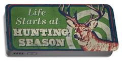 Life Starts Hunting Season Portable Battery Charger