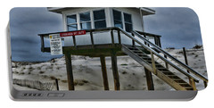 Portable Battery Charger featuring the photograph Lifeguard Station 2  by Paul Ward