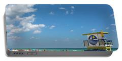 Lifeguard Station Miami Beach Florida Portable Battery Charger