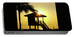 Lifeguard Station Sunburst Delray Beach Florida Portable Battery Charger