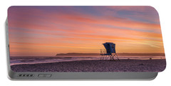Lifeguard Tower Sunset Portable Battery Charger