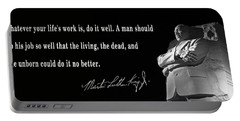 Life's Work - Martin Luther King Portable Battery Charger by Daniel Hagerman