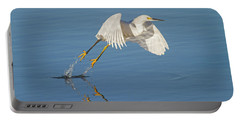 Lift Off- Snowy Egret Portable Battery Charger