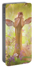 Portable Battery Charger featuring the painting Lift Up Your Eyes - Wildlife Art by Jordan Blackstone