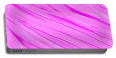 Light And Dark Pink Swirl Portable Battery Charger