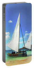 Light And Peace Sailboat In Anguilla  Portable Battery Charger