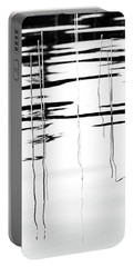 Light And Shadow Reeds Abstract Portable Battery Charger