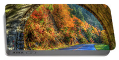 Portable Battery Charger featuring the photograph Light At The End Of The Tunnel Blue Ridge Parkway Art by Reid Callaway