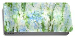 Light Blue Grape Hyacinth. Portable Battery Charger