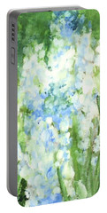 Light Blue Grape Hyacinth. Portable Battery Charger