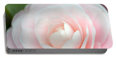 Light Pink Camellia Flower Portable Battery Charger by P S