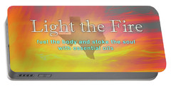 Light The Fire Portable Battery Charger by Cheryl McClure
