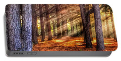Light Thru The Trees Portable Battery Charger by Sumoflam Photography