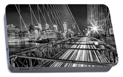 Light Trails Of Manhattan Portable Battery Charger by Az Jackson