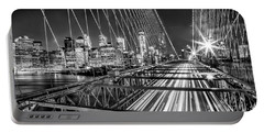 Light Trails Of Manhattan Portable Battery Charger