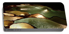 Light Up The Dark - Lit Natural Rock Water Basins In Underground Cave Portable Battery Charger