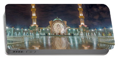 Portable Battery Charger featuring the photograph Lighted Federal Territory Mosque  by Pradeep Raja Prints